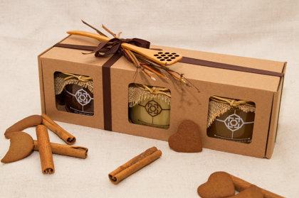 Dāvana - Dažādu ziedu, Krēmveida medus un Bišu maize vai Bišu maize medū, vai Ziedputekšņi